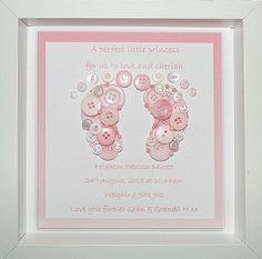 New Baby Gift Baby Girl Gift Baby Feet Sign Nursery Decor