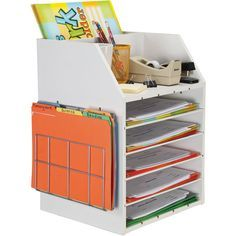 """Really Good Teacher's Desktop Organizer...**I really like this idea for the kids, each child has their own """"Work Station""""**"""