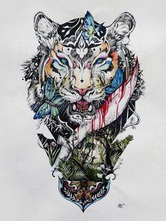 Imagen publicada por @klonstar Totem Tattoo, Kmenové Tetování, Tetování Na Rameni, Tetování Na Zádech, Inkoust Na Tetování, Tetování Na Zádech, Barevné Tetování, Smysluplné Tetování, Tetování Tigra