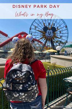 What to Pack in Your Disney Day Bag — Liz on Call Disney Day, Disney Tips, Disney Cruise, Disney Vacations, Disney Love, Walt Disney World, Disney Planner, What In My Bag, Disney Crafts