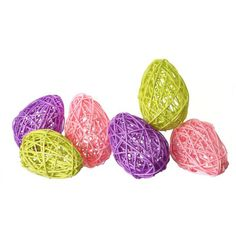 """Bag of 6 Woven Twig Easter Eggs Color: Multicolored Size: 3"""" eggs Arriving early 2015"""