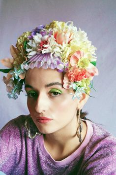 Flower Headpiece, Headdress, Pastel Party, Royal Academy Of Arts, Pastel Flowers, Floral Crown, Bridal Headpieces, Festival Fashion, Color Change