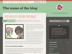 This is a great, FUN little Wordpress theme design by Meagan Fisher on Dribbble https://dribbble.com/shots/1540188-Wordpress-theme-design You can purchase the theme as well here http://theme.wordpress.com/themes/on-a-whim/ and even a live preview of the theme here....http://onawhimdemo.wordpress.com/