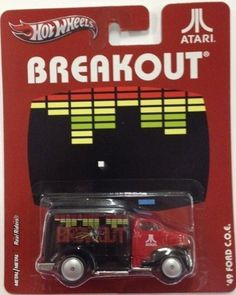 Hot Wheels Nostalgia 1/64- Atari Breakout '49 Ford C.O.E. by Mattel. $7.70. '49 FORD C.O.E. * BREAKOUT * Atari Hot Wheels 2012 Nostalgia Series 1:64 Scale Die-Cast Vehicle. HOT WHEELS Nostalgic Brands: This assortment captures iconic art from classic nostalgic brands. With die-cast bodies, die-cast chassis and Real Riders tires, these vehicles transport adult collectors back to a time when they didn't have a care in the world! Not for use with some Hot Wheels sets. For the ad...