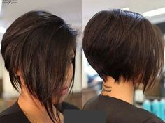 Graduation-Layered-Short-Bob Latest Bob Haircuts for 2018 Latest Bob Haircuts for 2018 - Recently we have a hairstyle that we love to see every day: bob hairstyle. If you like young and dynamic hair models Asymmetrical Bob Haircuts, Short Bob Haircuts, 2018 Haircuts, Long Pixie Hairstyles, Teenage Hairstyles, Braid Hairstyles, Hairstyles Haircuts, Bobs For Thin Hair, Trending Hairstyles