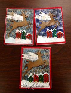 Mixed media Christmas cards 2012