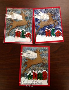 Mixed media Christmas cards 2012
