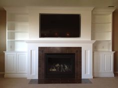Tv Over Fireplace Design Ideas, Pictures, Remodel, and Decor - page 45