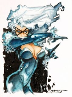 Black Cat by Alfonso Azpiri Comic Art