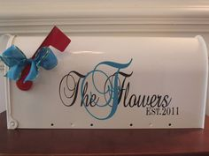 Personalized Mailbox Wedding Card Box Holder by snappydot on Etsy, $47.00