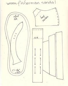 Instructions for Making the Fisherman's Sandal