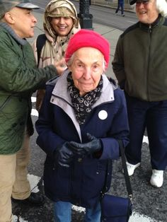 It's her 91st birthday and she's celebrating with us! #seattle #ferguson #icantbreathe