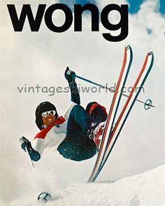 Wayne Wong, Skiing the 'Wong Way' Vintage K2 Ski Poster