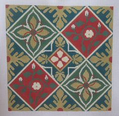 Handpainted Needlepoint Canvas Caron Collection Spanish Gothic #LCaron
