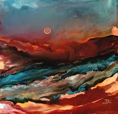 """Daily Paintworks - """"Dreamscape No. 469"""" - Original Fine Art forSale - © June Rollins"""