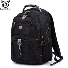 b3dde0bd9b012 BAIJIAWEI Men and Women Laptop Backpack Mochila Masculina 15 Inch Backpacks  Luggage & Men's Travel Bags Male Large Capacity Bag-in Backpacks from  Luggage ...