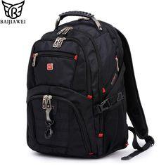 Baijiawei uomini e donne zaino del computer portatile mochila masculina 15 pollice zaini da viaggio e borse da viaggio per uomo maschio grande capacità borsa