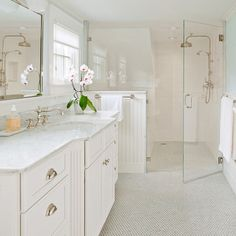 Zero Entry Shower Bathroom Design Ideas, Remodels & Photos