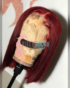 Red frontal bob unit - January 27 2019 at Baddie Hairstyles, My Hairstyle, Weave Hairstyles, Black Hairstyles, Hairstyle Ideas, Pretty Hairstyles, Hair Ideas, Curly Hair Styles, Natural Hair Styles