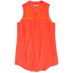 Madewell Cargo Tank Madewell Cargo Tank in XS. Bright red-orange in color. Madewell Tops Tank Tops