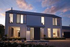 Modern Barn House, Modern Houses, House Designs Ireland, Ireland Homes, Passive House, House Blueprints, Story House, Scandinavian Home, Coastal Homes