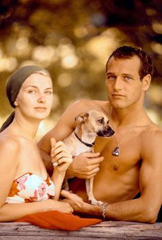 Paul Newman and Joanne Woodward. Gorgeous couple