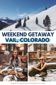 The ultimate guide to visiting Vail Colorado for a ski vacation. Where to eat, drink and stay on the mountain Vail 3 day itinerary | things to do in Vail| Vail photo spots | Vail food | Vail hotels | Vail airbnb | Vail restaurants | Vail instagram spots | Places to visit in Vail| Best time to visit Vail | things to do in Vail | winter in Vail | Holidays in Vail | skiing in Vail | girls trip to Vail
