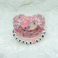 Embellished adult pacifiers for littles or adult baby in the abdl, Ddlg communities.