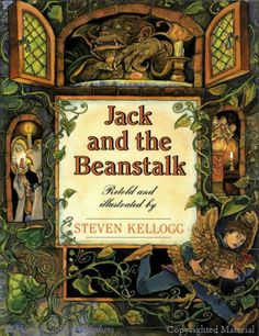 Jack and the Beanstalk tells the story of a young boy named Jack who grows beans and eventually the beans grow so big that he is able to climb on the beanstalk and visits giants. This is a great book to teach students be careful what you wish for.