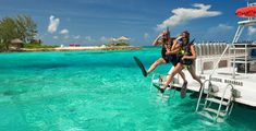 Snorkeling is a great way to work out and have fun on your honeymoon getaway! [Sandals Resorts - Bahamas]