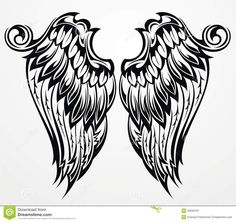 Vector Tattoo wings for your design Poster Vector wings Poster. Angel Wings Drawing, Tribal Tiger, Raven Art, Symbol Tattoos, Tatoos, Bird Wings, Black Wings, Tattoo Wings, Abstract