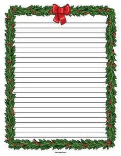 Holiday lined paper