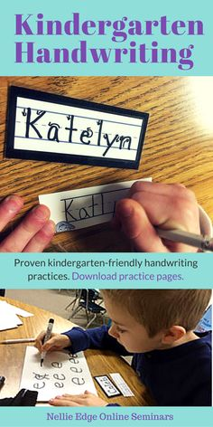 Kindergarten Handwriting Best Practices + Morning Work Activities Curriculum Options Teachers must give children the gift of legible handwriting habits from the start of their journey as writers.Give students skills for efficient pencil grip, better h Kindergarten Handwriting, Handwriting Activities, Name Activities, Kindergarten Literacy, Motor Activities, Educational Activities, Classroom Activities, Classroom Ideas, Improve Your Handwriting