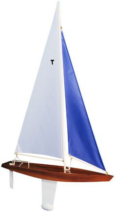 model sailboat, pond yacht, wooden toy sailboat