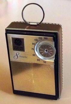 Vintage General Electric 8-Transistor Radio, Model P730E, Made In USA, Circa 1964.
