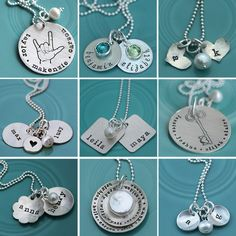 stamped jewelry.  @Erica Cerulo Brandt    Like like like all of these!!!! Hint hint