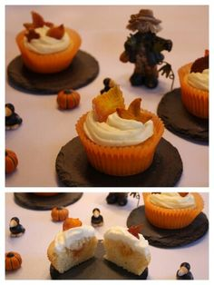 Orange-cupcakes with orange core ♡ Orange Cupcakes, Core, Sweets, Desserts, Sweet Pastries, Tailgate Desserts, Goodies, Dessert, Candy