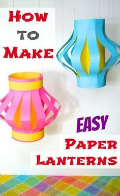 Make Easy Paper Lanterns -- Green outer layer, vellum inner core with Green Lantern logo drawn on in Sharpie. logo How to Make Easy Paper Lanterns (Japan) - Inner Child Fun New Year's Crafts, Holiday Crafts, Fun Crafts, Arts And Crafts, Easy Paper Crafts, Diy With Kids, Art For Kids, Chinese New Year Crafts For Kids, Around The World Crafts For Kids