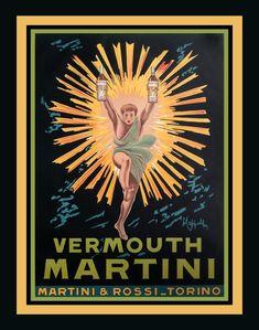 Leonetto Cappiello, (Italian, - Vermouth Martini (Martini & Rossi-Torino), ca. Custom Posters, Vintage Posters, Vintage Art, Martini, Beautiful Posters, Reproduction, All Poster, Art Deco, Fine Art