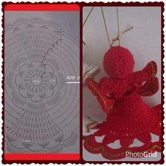 Crochet Christmas Ornaments, Holiday Crochet, Angel Ornaments, Christmas Items, Christmas Angels, Christmas Crafts, Christmas Decorations, Crochet Angels, Crochet Doilies