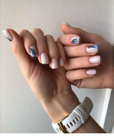 After reading so many nail art recommendations in the spring, have you found your favorite nail style? Come share my favorite romantic spring short nails today. Nail Manicure, Manicures, Gel Nails, Acrylic Nails, Marble Nails, Glitter Nails, Short Nails Art, Long Nails, Cute Nails