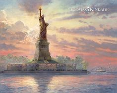 Dedicated to Liberty by Thomas Kinkade - The newest release from the Thomas Kinkade Vault