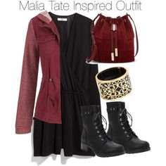 Malia Tate Inspired Outfit by staystronng on Polyvore featuring maurices, MANGO, Torrid, Vince Camuto, Miriam Salat, Spring, tw and maliatate