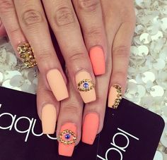 Laque Nails Bar. Really cute but I definitely wouldnt do the eyes. Maybe a cute heart.