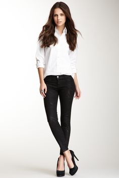 Current/Elliott The Stiletto Splatter Skinny Jean