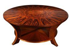 Rosewood Sunburst Coffee Table
