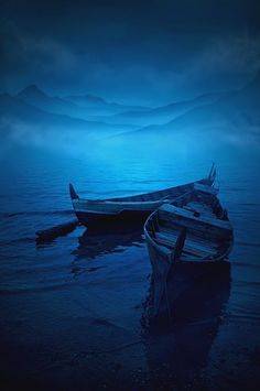 blue boat's: