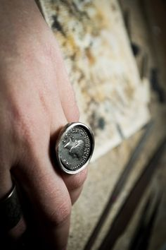 An ancient coin ring-Sterling silver-Jewelry by AnnakramaJewelry