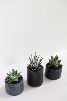 Handmade Ceramic Planters Pottery Planters Black Planter
