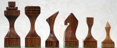 Chess sets from The Chess Piece chess set store: Modern Art Chess Set, Carved Wooden Chess Pieces